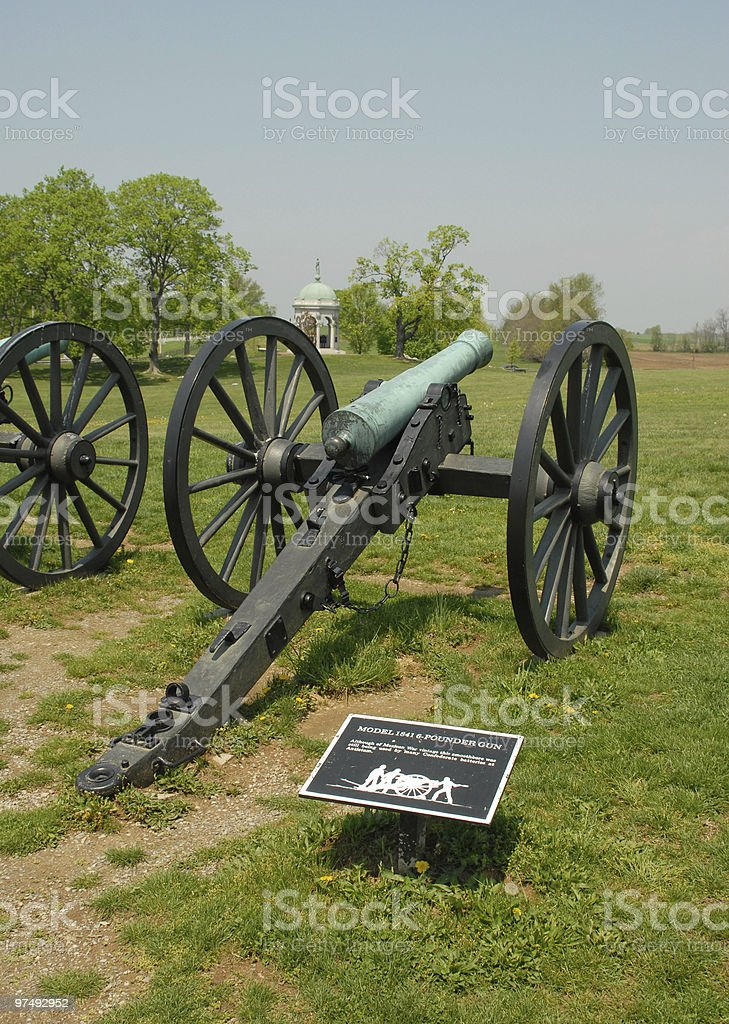 Confederate artillery near the Maryland Monument at Antietam royalty-free stock photo