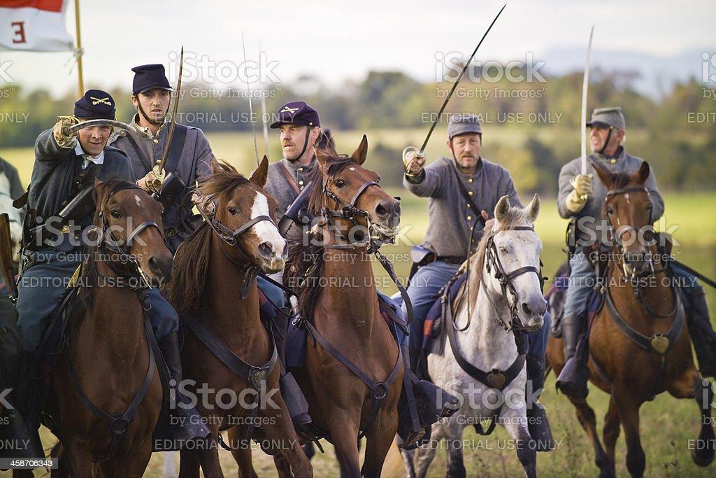 Confederate Cavalry in the Shenandoah Valley Virginia stock photo