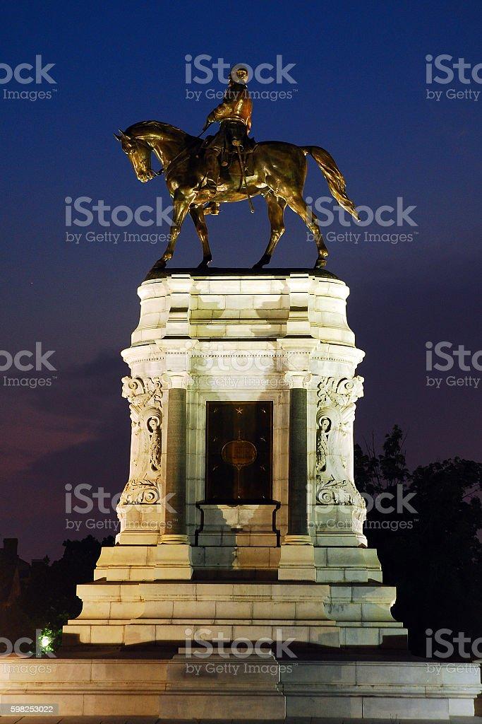Confederate General Robert E Lee Memorial in Richmond stock photo