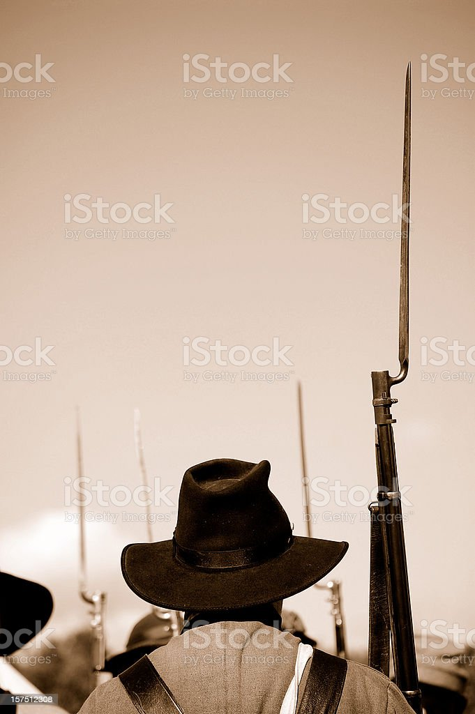 Confederate Soldier royalty-free stock photo