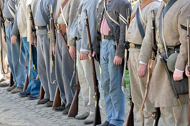 Confederate Soldiers of Civil War Era stock photo