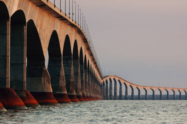 confederation bridge - prince edward island stock photos and pictures