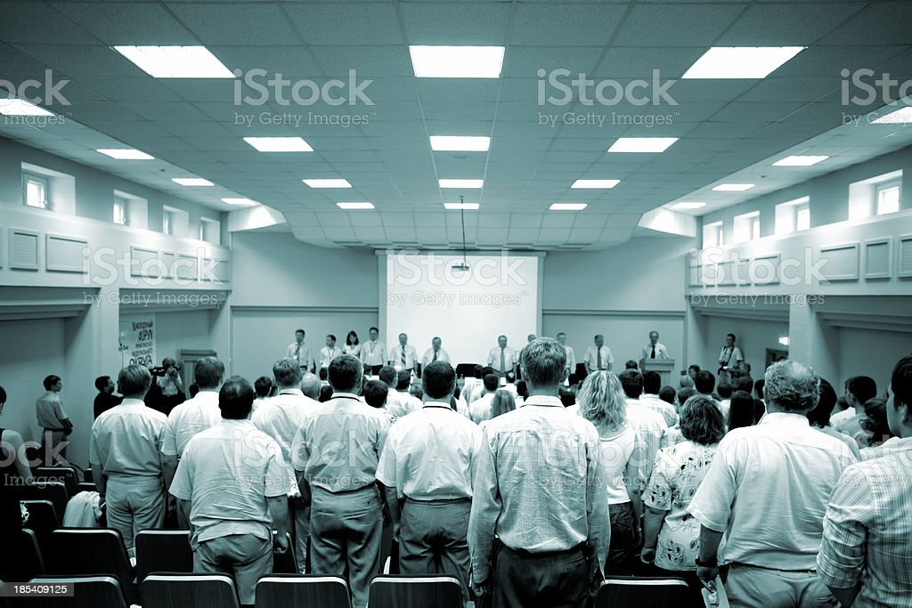 Conference beginning royalty-free stock photo