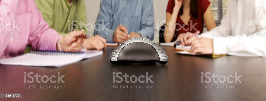 Conference Call stock photo