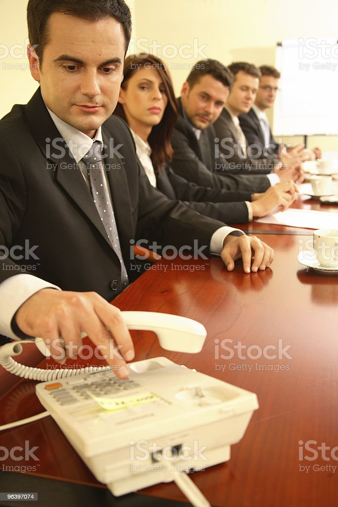 Conference call. royalty-free stock photo