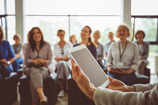 Conference For Businesswomen Stock Photo - Download Image Now