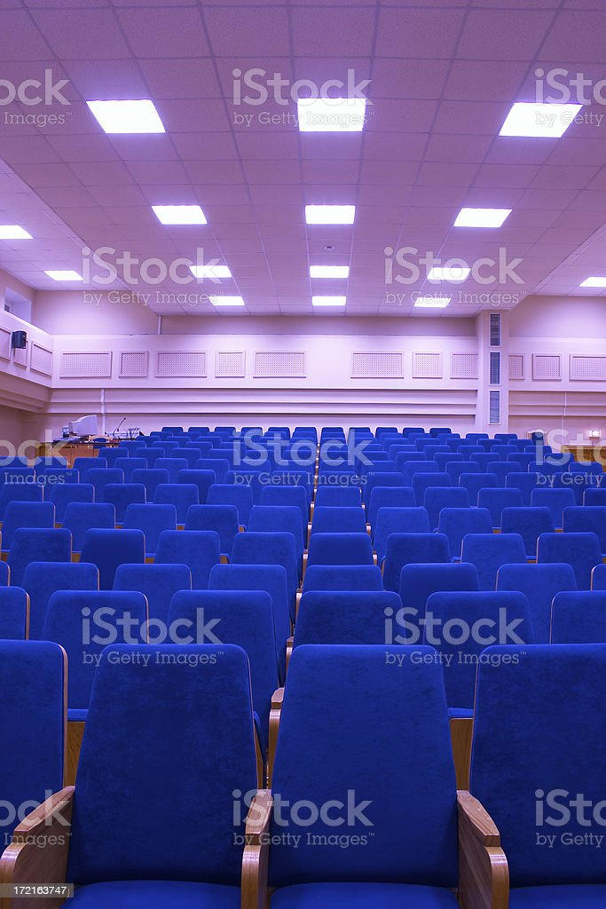 Conference hall - 5 royalty-free stock photo