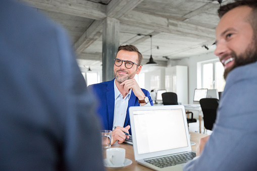 Conference Meeting Of Corporate Professionals Stock Photo - Download Image Now