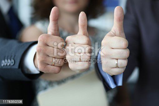 693589426 istock photo Conference participants express their approval 1178350208