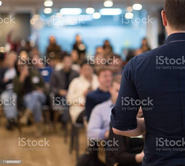 Conference photo audience and speaker giving speech seminar presenter picture id1188899957?b=1&k=6&m=1188899957&s=612x612&h=tqdab39crxijtg6onvpiakxkxjsf ualiw91s zfixm=