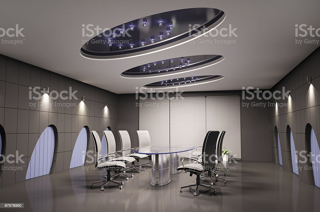 conference room 3d royalty-free stock photo