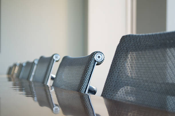 Conference room chairs stock photo