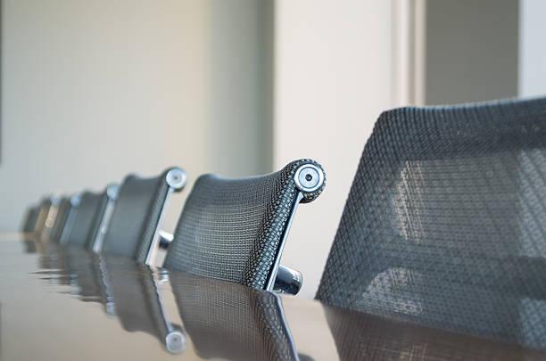 コンファレンスルームの椅子 - オフィスチェア ストックフォトと画像
