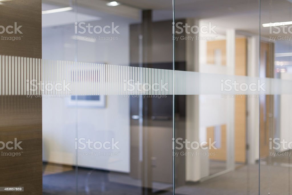 Conference Room Glass Wall stock photo