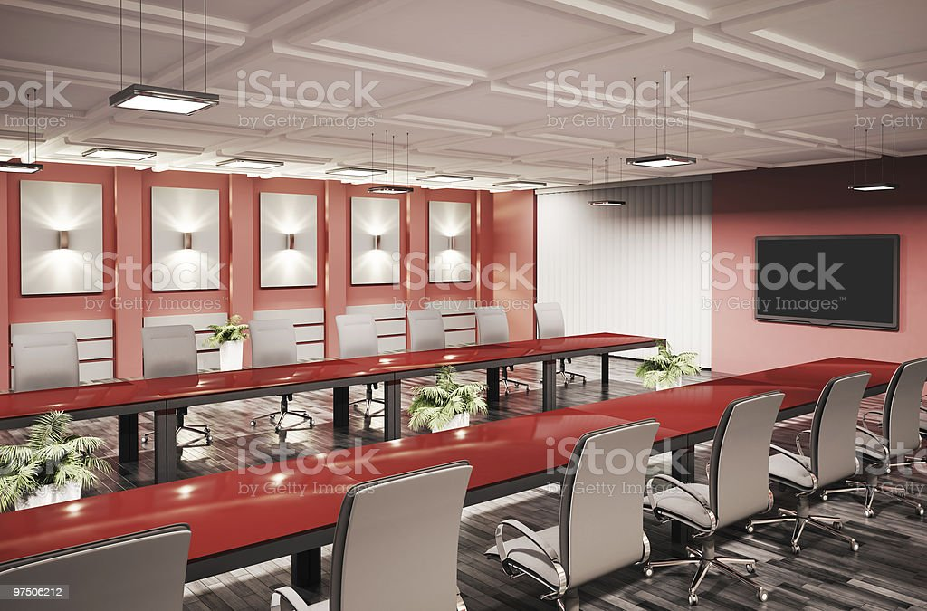 conference room interior 3d royalty-free stock photo