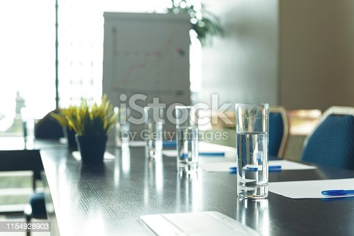 Conference room interior with empty chairs