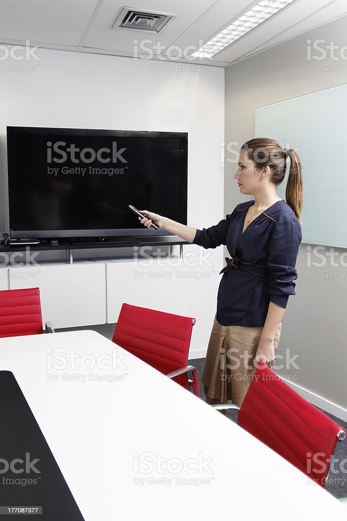 Conference room settings royalty-free stock photo