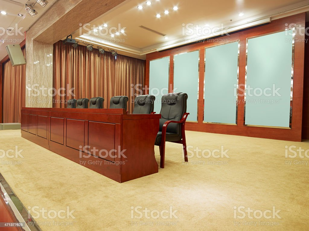 Conference room stage royalty-free stock photo