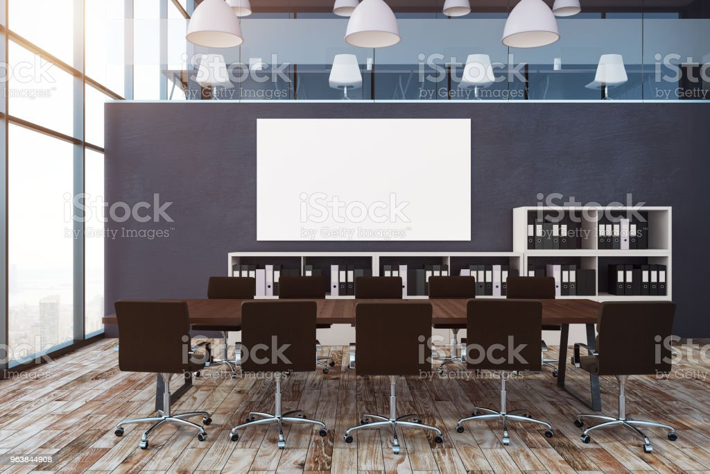 Conference room with empty billboard - Royalty-free Architecture Stock Photo