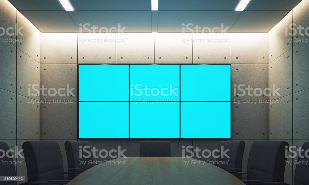Conference room with empty stock photo