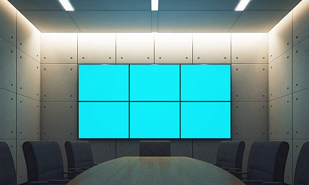 Conference room with empty - foto de stock