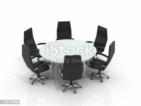 istock conference round table and chairs 104714569