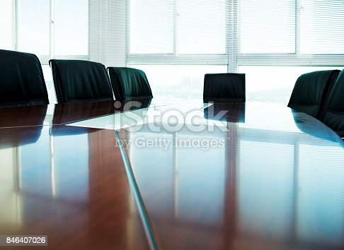 istock Conference table and chairs in the board room 846407026