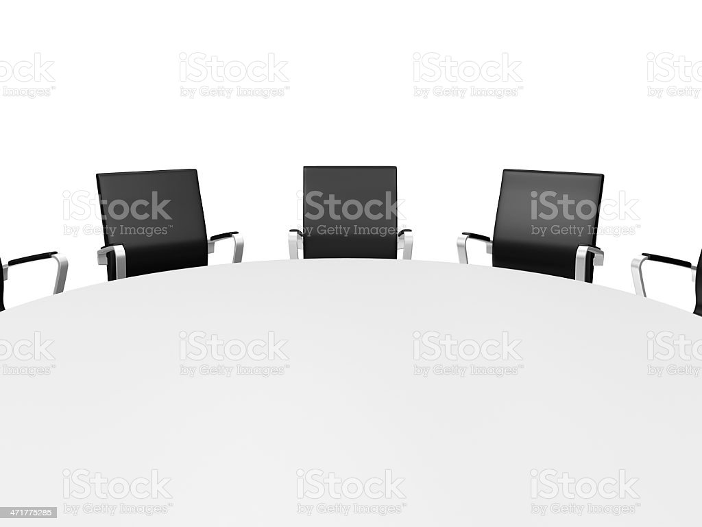 Conference Table and Office Chairs royalty-free stock photo