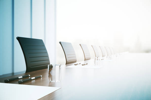 conference table closeup - business meeting stock pictures, royalty-free photos & images