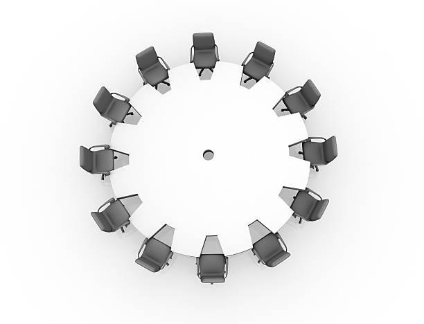 Konferenztisch-Konzept-Ausrüstung – Foto