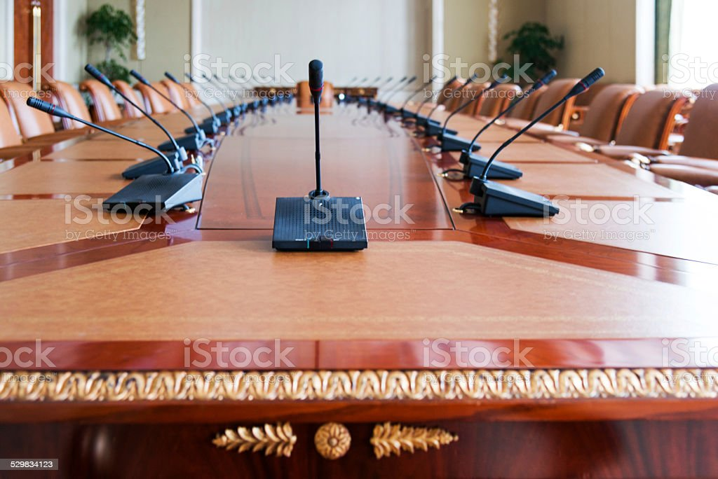 conference table stock photo