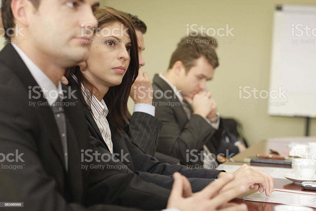 Conference with five businesspeople - Royalty-free Adult Stock Photo