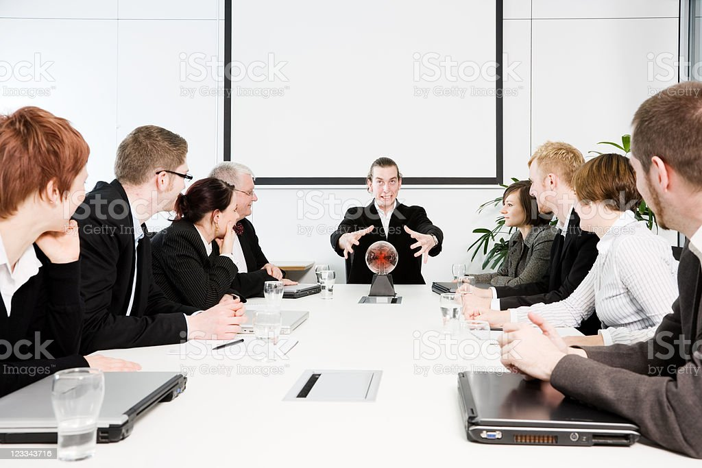 Conferenceroom Series - Predicting The Future royalty-free stock photo