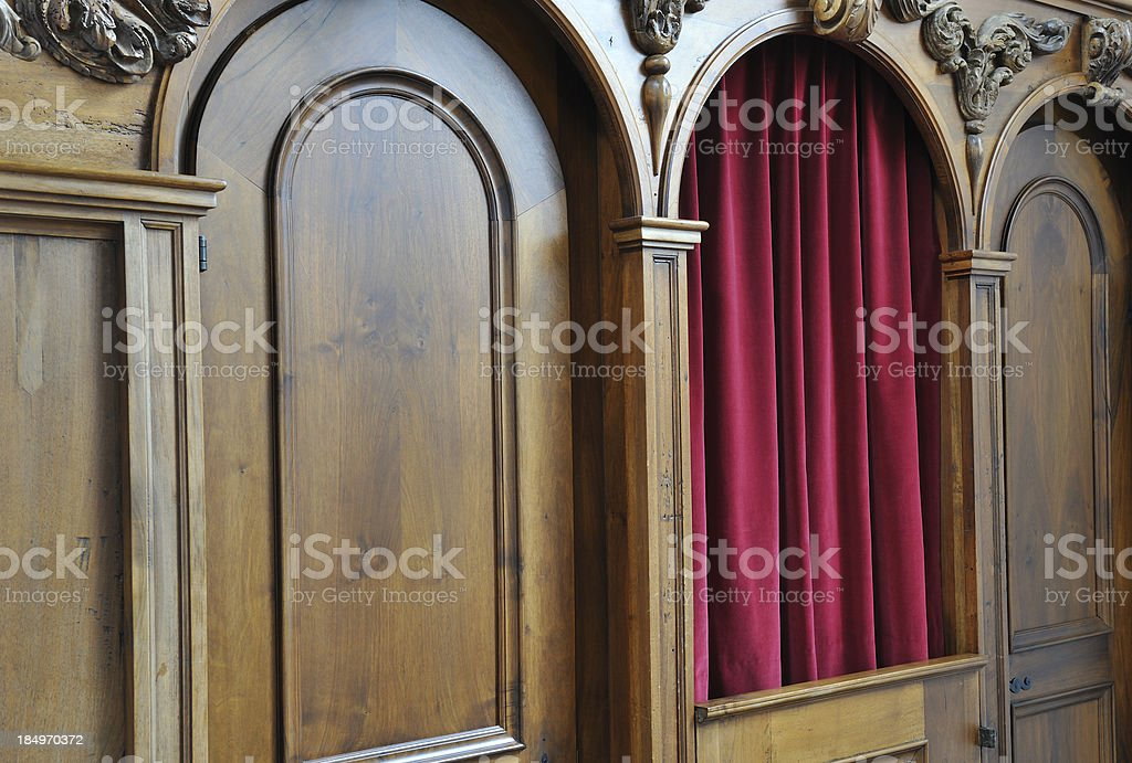 Confession Booth stock photo
