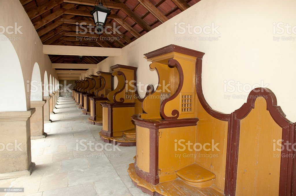 Confessional Booths stock photo