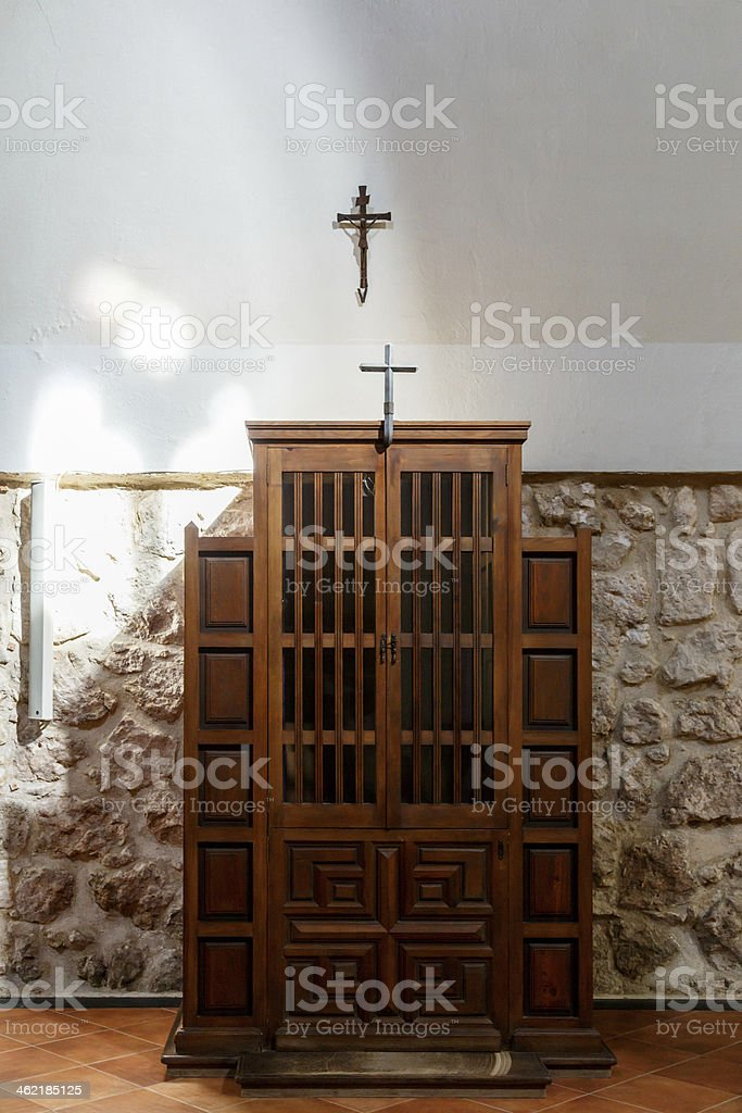 confessional church royalty-free stock photo