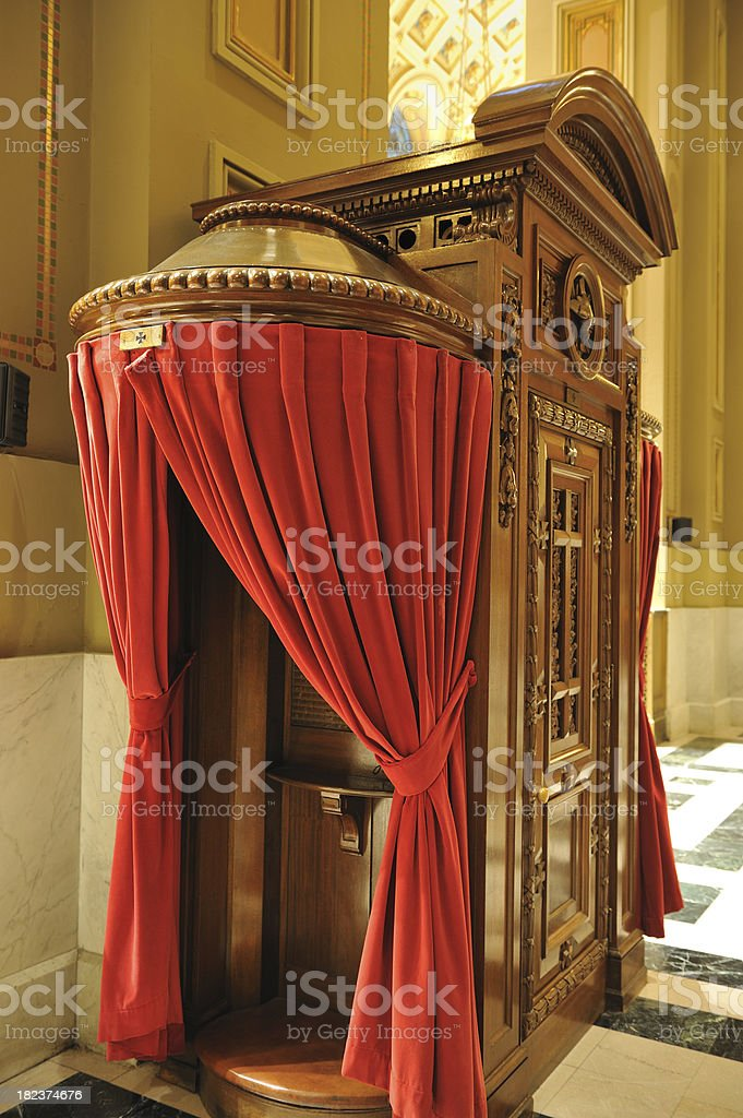 Confessional royalty-free stock photo