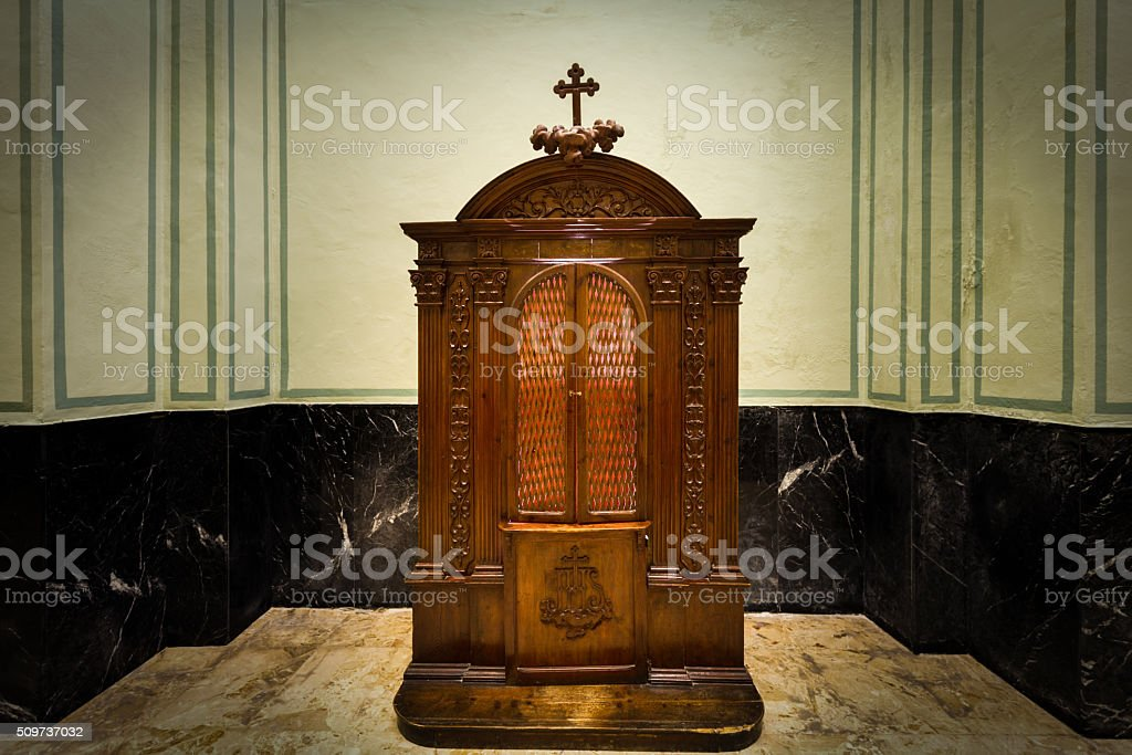 Confessional stock photo