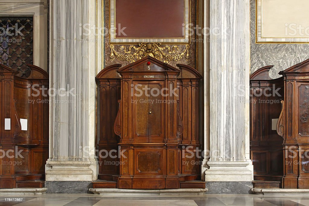 Confessions booth royalty-free stock photo