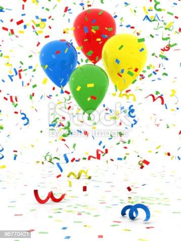 istock Confetti and Balloon 95770421