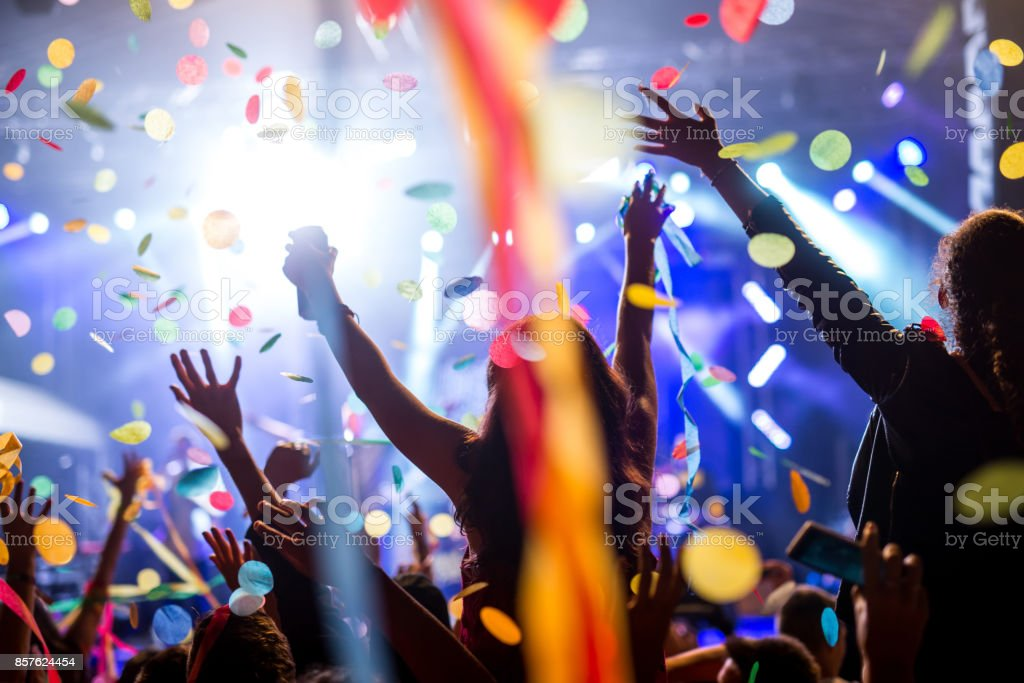 Confetti and party stock photo