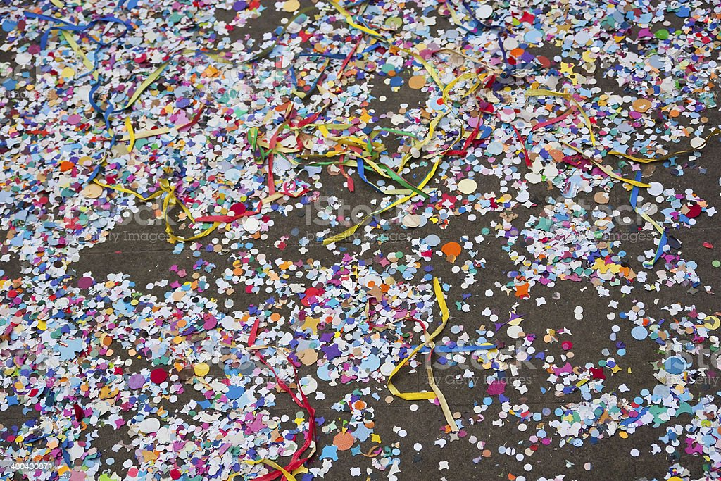 Confetti and streamers royalty-free stock photo