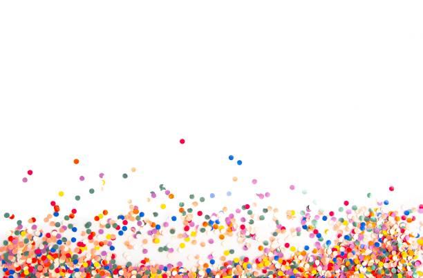 confetti achtergrond - confetti stockfoto's en -beelden