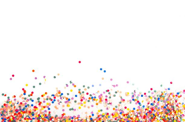 confetti background - confetti stock pictures, royalty-free photos & images