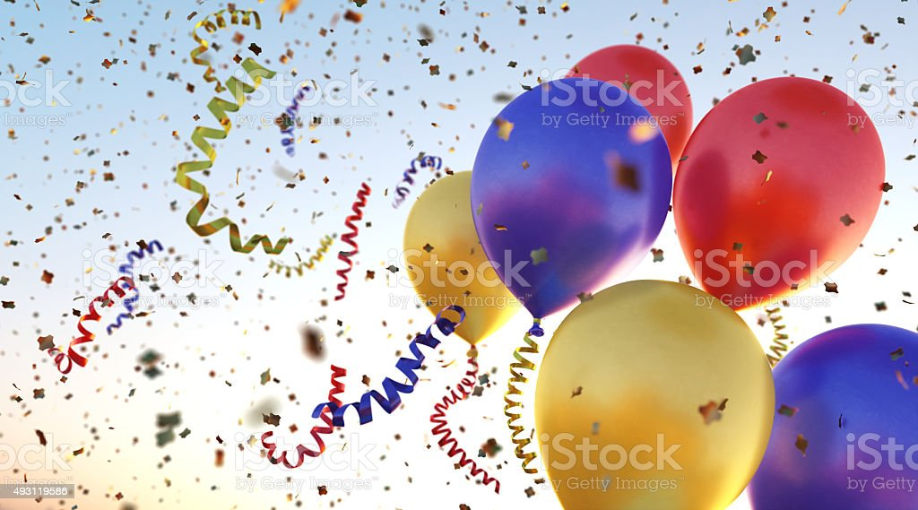 Confetti Balloons A10 stock photo