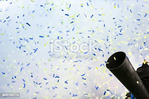 A blast of confetti paper for a celebration