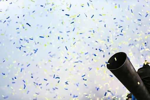 A blast of confetti paper for a celebration