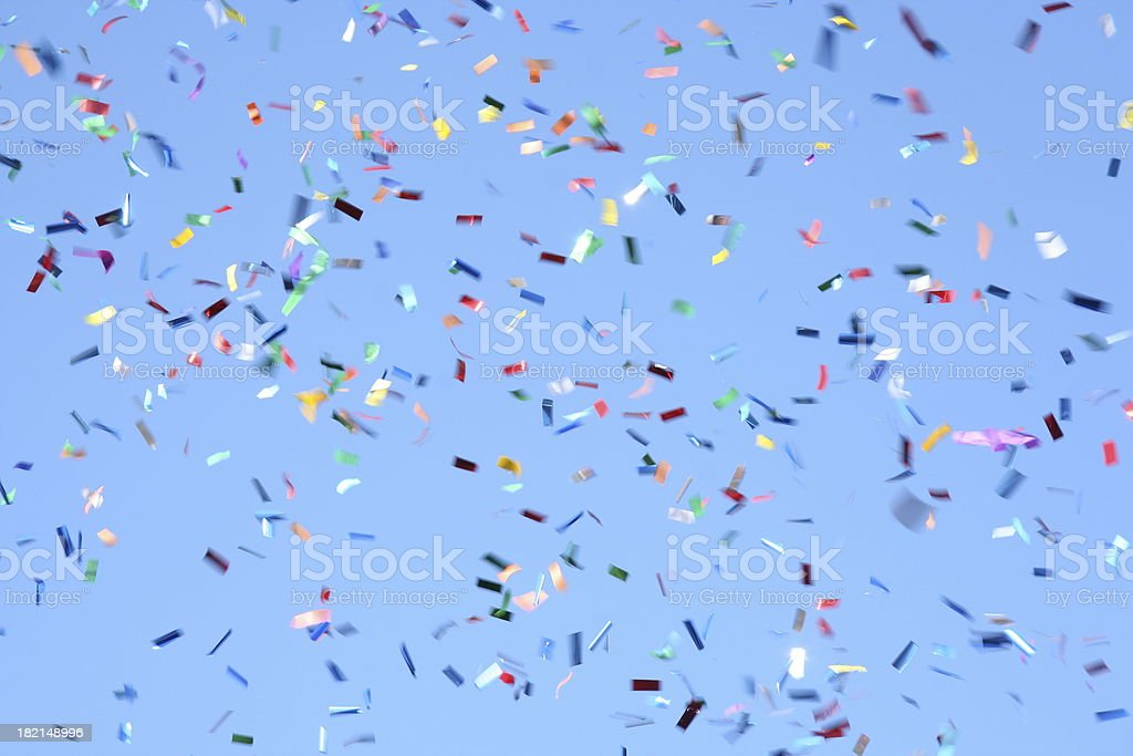 Confetti Celebration stock photo