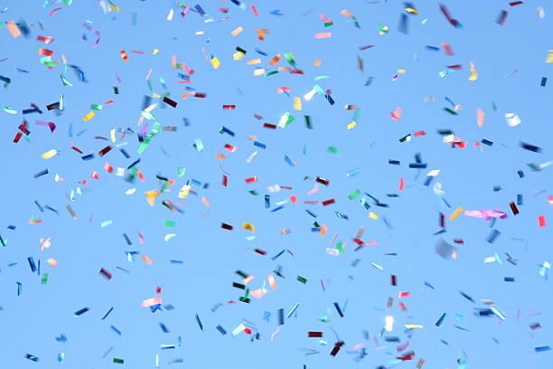 confetti celebration - confetti stockfoto's en -beelden