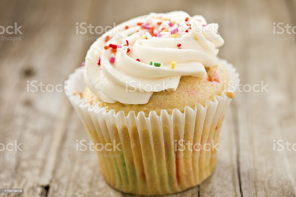 Confetti Colored Cupcake stock photo